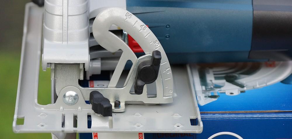 Schnittwinkel Schiene Einstellung Bosch GKS 190