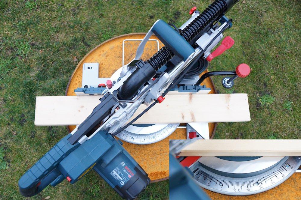 Bosch GCM 8 SJL Sägetisch gedreht
