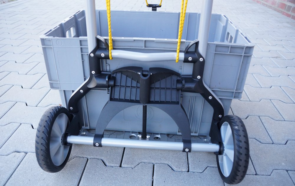 Kiste auf Wolfcraft Transportsystem